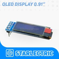 "Modul Display OLED LCD 0.91 inch 0.91"" 128x32 Serial I2C Arduino White"