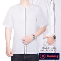 Kemeja / Baju Koko Oblong Muslim Pria - Putih