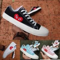 Converse CDG size 36 - 40 sepatu wanita sneakers casual putih pink