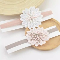 Newborn Baby Girls Big Flower Headband Headware/ bando bayi
