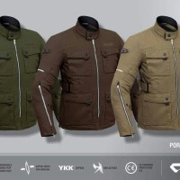 Jaket Contin Porjo Canvas Jacket Motor Safety Riding Touring Biker Ori