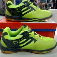 sepatu sapatu badminton bulutangkis hart hs-505 hijau ori