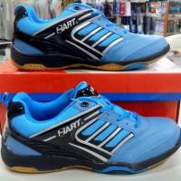 sepatu sapatu badminton bulutangkis hart hs-305 biru ori