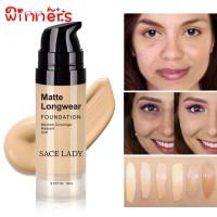 ( New Item ) Popinners Foundation Cair Kosmetik Makeup untuk Primer W
