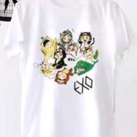 Jaspart Kaos / T-Shirt / Tumblr Tee putih exo wanita