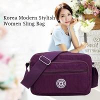 TS75 Korea Modern Stylish Women Nylon sling Bag / Tas Selempang