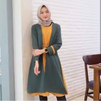 Baju Muslim Syari Wanita Terbaru Tamara Long Tunik Combi Murah
