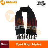 Rigi Syal Alpha selendang winter hangat outdoor gunung traveling Merah