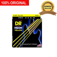 Senar Bass Elektrik Neon Kuning Yellow DR Strings NYB45