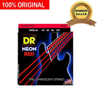 Senar Bass Elektrik Neon Red Merah DR Strings NRB-45