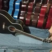 gitar akustik elektrik cort tuner