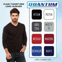 Quantum Kaos Pria Lengan Panjang V-Neck Cotton combed distro Premium - S