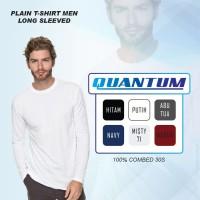 Quantum-Kaos Polos Pria Lengan Panjang cotton Combed 30s - S