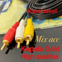 KABEL AUDIO TO 3 RCA GOLD PLATED 1.5M (1-3) / JACK 3.5 - 3 RCA 1.5 MTR