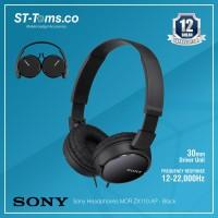 Sony Headphones MDR ZX110 AP - Black - Hitam - 341
