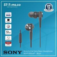 Sony In-Ear Extra Bass Headphone MDR-XB55AP / XB 55AP - Hitam - Hitam - 229