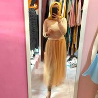 Baju Fashion Wanita (MUSLIM) kuning renda