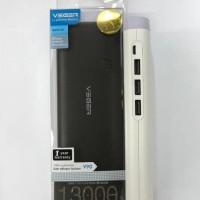 Powerbank VEGER 13000Mah 3port Usb Original garansi resmi 1tahun