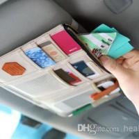 Sun Visor Car Organizer Tempat Uang Kartu ATM hp & karcis