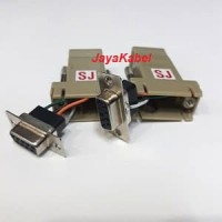 Modular Adaptor RJ45 Null Modem RS232 Female to Female
