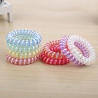 Ikat Rambut Spiral Warna Warni ( tali rambut karet rambut kunciran)