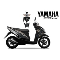 DECAL STICKER MOTOR YAMAHA XEON BLACK PHANTER