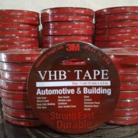 Double Tape Super Kuat Super Lengket Merk 3M VHB Original lebar 12 mm