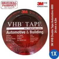 Double Tape Super Kuat Super Lengket Merk 3M VHB Original lebar 24 mm