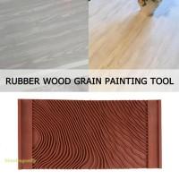 New model rubber wood grain kuas cat motif pola kayu wall pattern