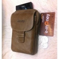 Dompet hp kulit Tempat hp Tas handphone Genuine Leather Men Mobile