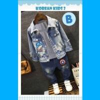 Setelan Jeans Boy Korean Kids B Baju Anak Import Jeans