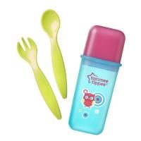 Tommee Tippee Sendok Makan Travel Cutlery Set Green - 430749