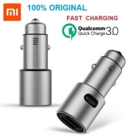 Xiaomi Charger Mobil Mi QC3.0 Car Charger Dual USB Quick Charger