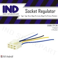 Socket-Soket-Songket Kiprok-Regulator 5 Kabel-Pin Tiger Lama-New Revo