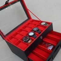 Kotak Jam Tangan Isi 12 Mix Kacamata / Tempat Jam Kacamata / Watch Box
