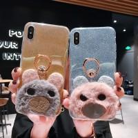 Soft Glitter Case Bear Xiaomi Redmi Note 7 5 6 Pro 5 4 4X 5A Prime 3