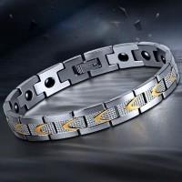 Gelang Import Pria GERMANIUM Kesehatan Titanium Stainless Steel II 007