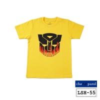 Baju Kaos Atasan Anak Motif Superhero Transformers Kuning - LSH55