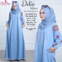 Delia Maxi Jeans gamis jumbo jeans jumbo dress jumbo baju lebaran