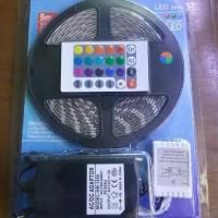 Paket Komplit Led Strip RGB 5050 Lampu Led Strip Warna Warni