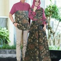 Baju Busana Muslim Gamis Couple Pria Wanita Petra Batik