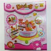 Mainan Delicious Fruit Cake Kue Ulang Tahun Potong Kecil Edukasi Kue