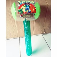 Mainan Balon Palu Transparan Bening 45cm Ada Kincringannya