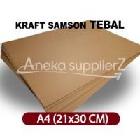 Kertas Karton Samson Kraft Coklat tebal 280 gsm - A4 (21x30 cm)
