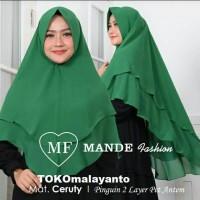 Hijab Kerudung Khimar Cruty Pet Antem Layer 2 Baby Doll 20 warna - Maroon