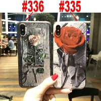 Case 3D Relief Motif Vintage Rose utk Xiaomi Mi A1 Redmi 4X Note 5 5A