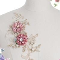 aplikasi lace, bunga 3d,renda3d