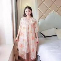 Best Kimono Flower Jumbo Dress Import