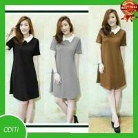 Best Baju Mini Dress 702 / Mini Dress Casual 702 - Hitam