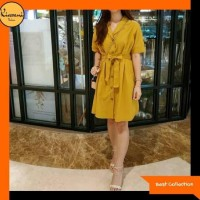 Best Baju Mini Dress 409 / Mini Dress Casual 409 - Mustard